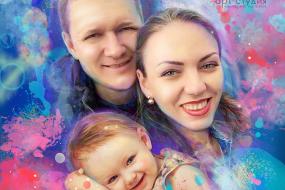 Семейный портрет в стиле ГРАНЖ в Минске…