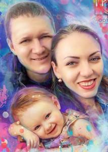 Семейный портрет в стиле гранж
