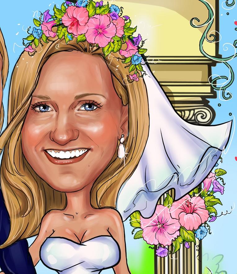 заказать свадебный шарж в Минске
