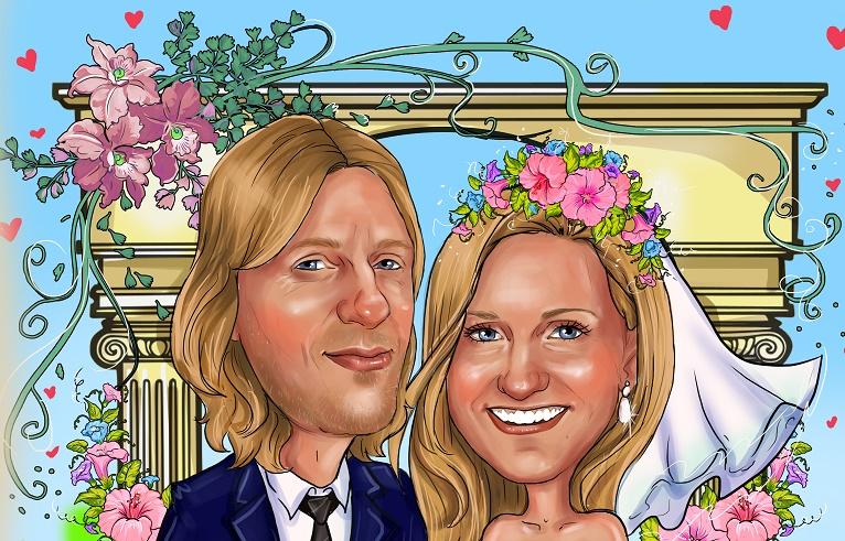 свадебный шарж на заказ в Минске