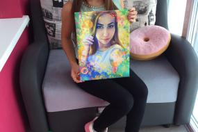 Заказывала портрет по фото в стиле Гранж подруге на день рождения…