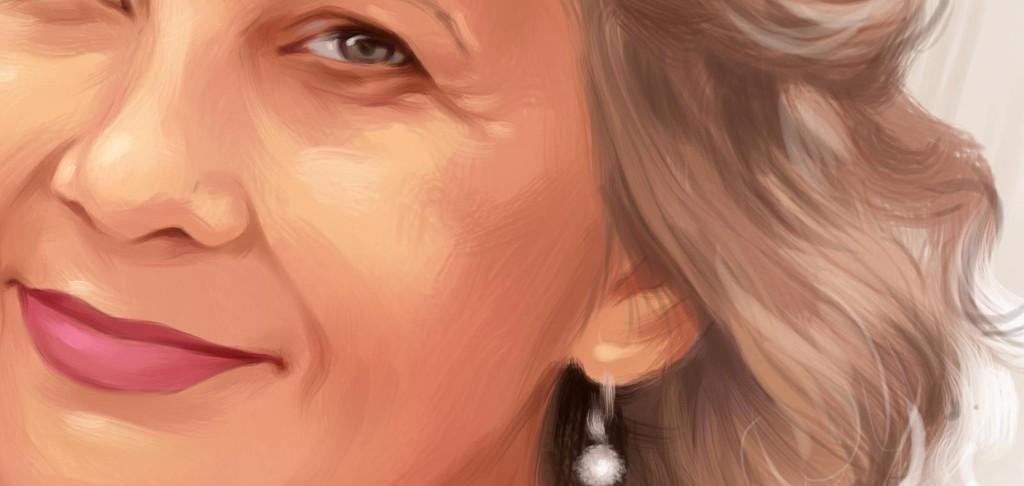 заказать портрет бабушке на холсте