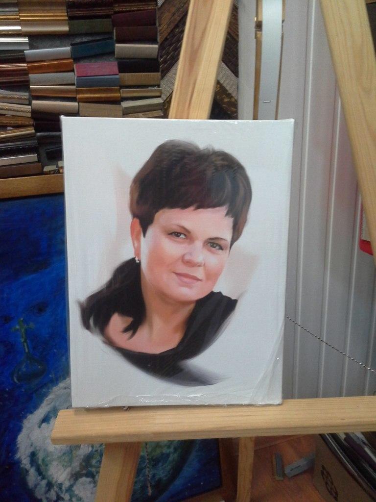 портрет на холсте маме мск