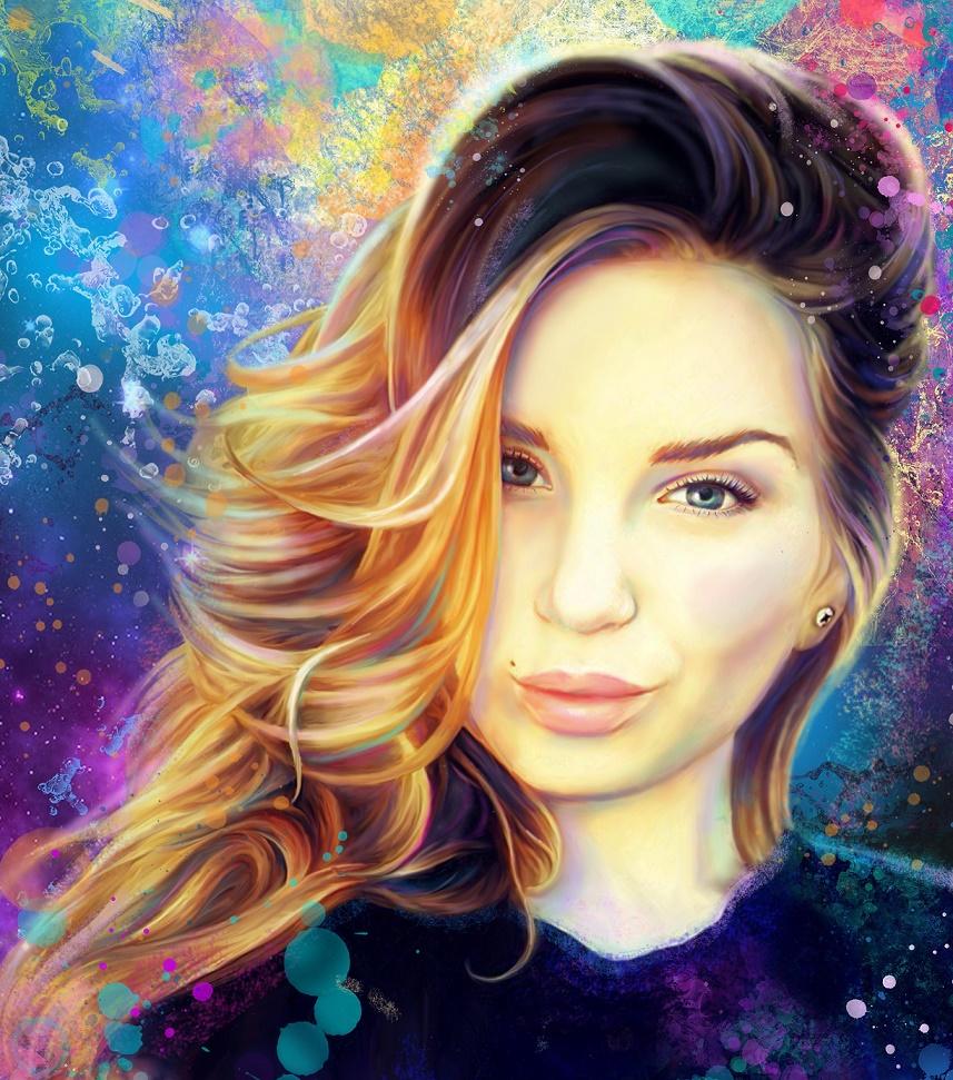 портрет в стиле ганж Минск