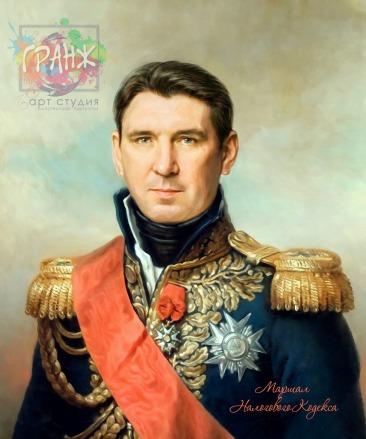 Портрет по фото на холсте в подарок мужчине на 23 февраля Минск